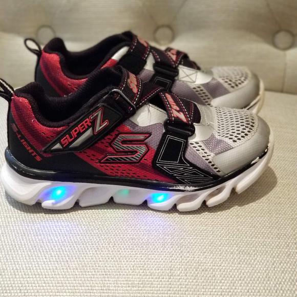 Boys Skechers Hypno Flash Light up shoe Size 13